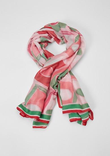 Luchtige sjaal met motief