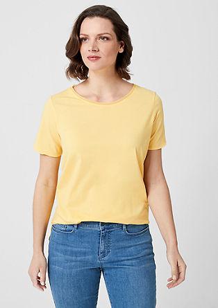 T-shirt en jersey animé d'un élément en chiffon de s.Oliver