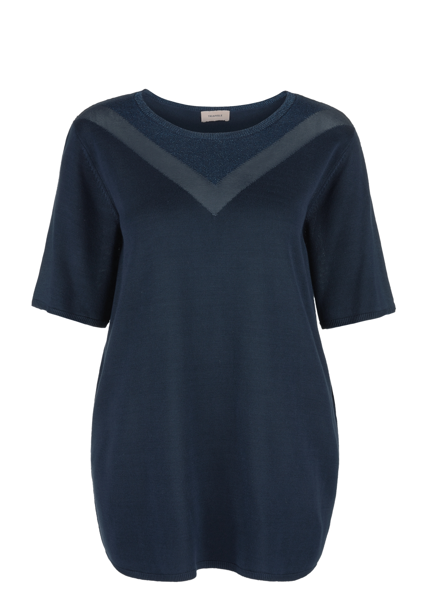Kurzarmpullover   Bekleidung > Pullover > Kurzarmpullover   Blau   99% viskose -  1% metallisiertes garn   TRIANGLE