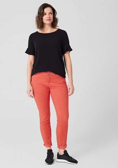 Curvy Extra Slim Leg: Twill trousers from s.Oliver