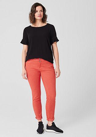Curvy Extra Slim Leg: Keprové kalhoty