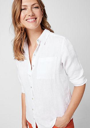 Košilová halenka ze lnu