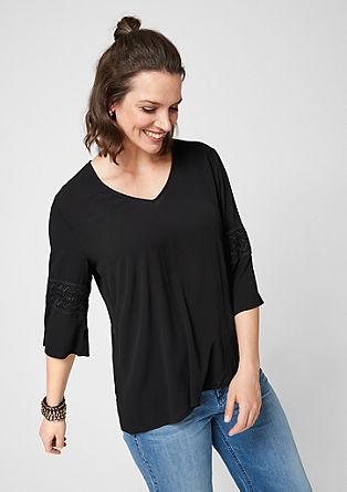 Crêpe blouse met kanten details