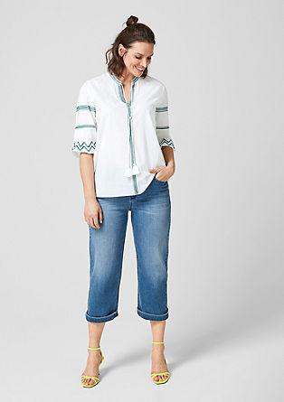 Bluza v slogu tunike z vezenino