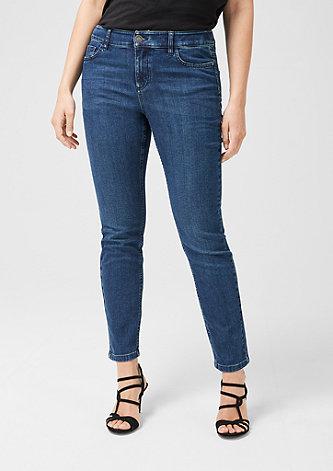 Curvy Slim Leg: Strechjeans
