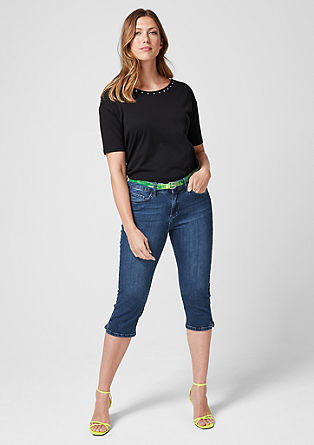 Curvy: Capri jeans from s.Oliver