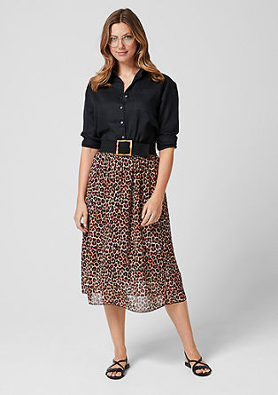Chiffon midi skirt in a leopard look from s.Oliver