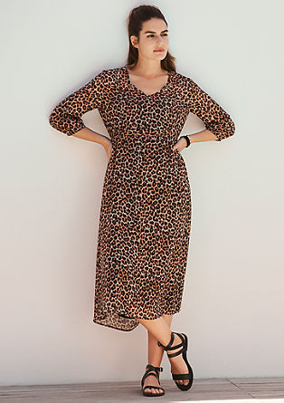 Chiffon dress in a leopard look from s.Oliver