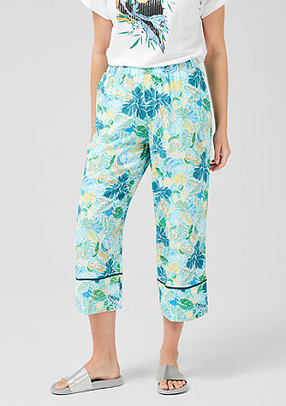 Culottes with a printed pattern from s.Oliver