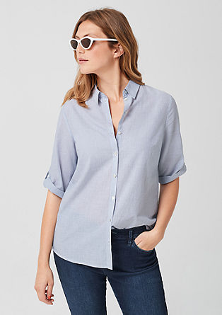 Lightweight shirt blouse in a striped design from s.Oliver