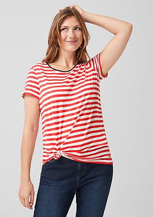 Jersey shirt met strepen