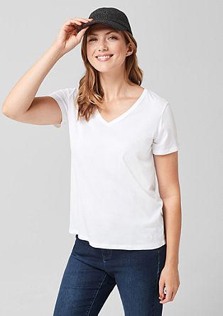 Jersey shirt met een V-hals