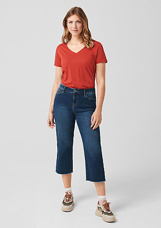 Curvy Straight Leg: 7/8-length culottes from s.Oliver