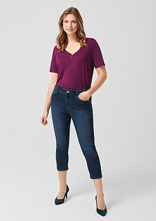 Curvy Slim Leg: Jeans with a 7/8-length leg from s.Oliver