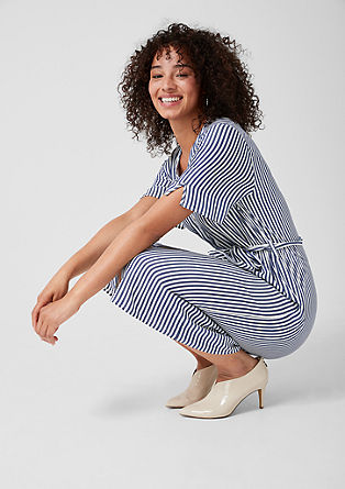 Striped midi dress from s.Oliver