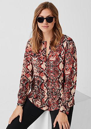Bluza iz krepa z vzorčastim potiskom