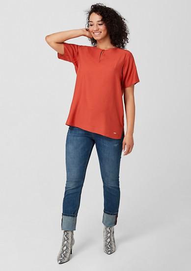 Bluse mit Loch-Stitching-Details