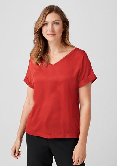 tričko se satinovaným předním dílem