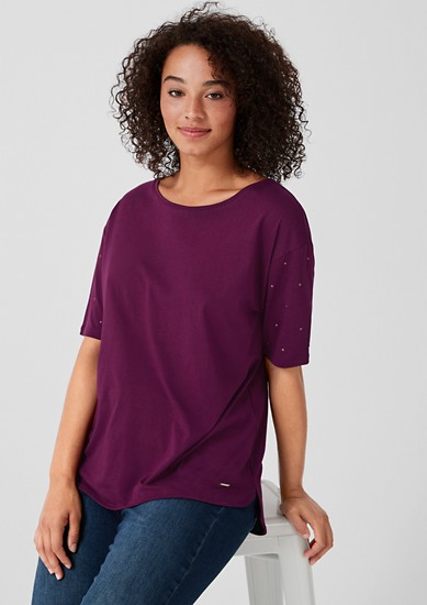 Jersey top with studded details from s.Oliver