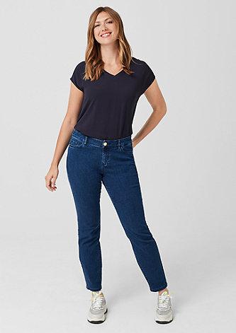 Curvy Slim Leg: Stretchjeans
