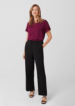 Fine twill Marlene trousers from s.Oliver