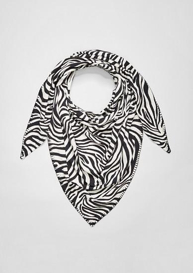 Driehoekige sjaal met zebramotief