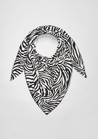 Bandana bib with a zebra pattern from s.Oliver