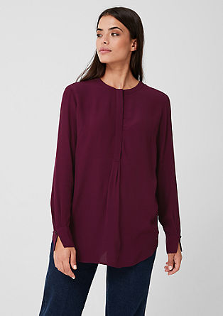 Crêpe blouse in a long style from s.Oliver