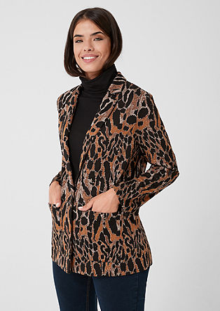 Jacquard blazer with an animal pattern from s.Oliver