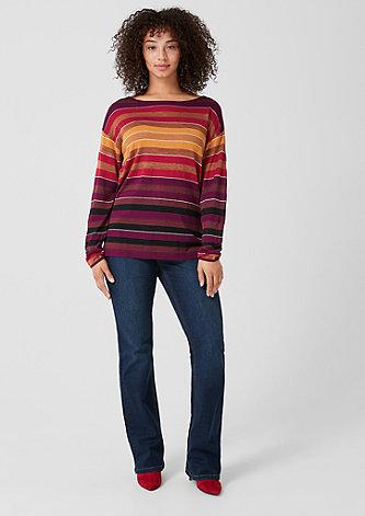 Pullover mit Glitzer-Streifen