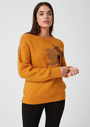 knitted jumper with a floral motif from s.Oliver