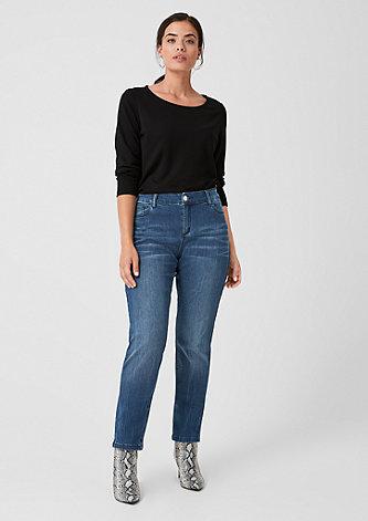 Curvy Extra Slim Leg: Dunkle Jeans