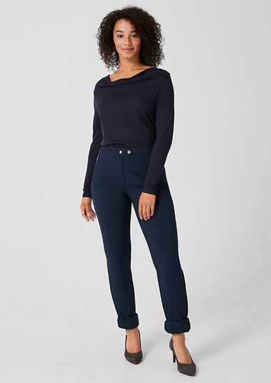 Stretch trousers with button detail from s.Oliver
