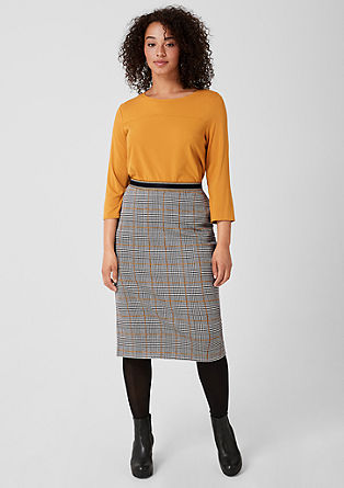 Jacquard skirt with a houndstooth pattern from s.Oliver