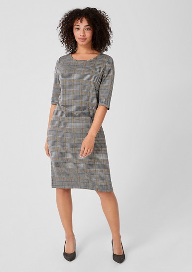 Elegantes Jacquard-Kleid