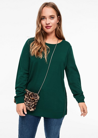 Sweatshirt aus Interlock-Jersey