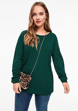 Sweatshirt aus Interlock-Jersey