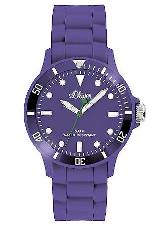 Kleurrijk horloge met siliconen armband.
