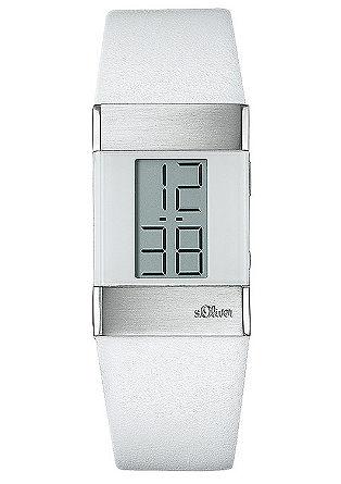 Moderne Armbanduhr mit Lederband