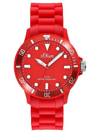 Modieus horloge met siliconen armband.