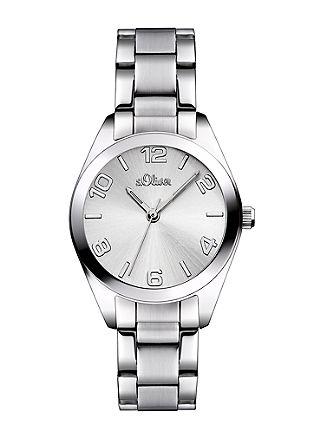 Klassiek horloge van edelstaal.