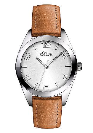 Markante Uhr mit Lederband