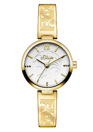 Uhr mit geprägtem Edelstahlband
