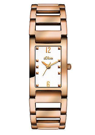 Edelstalen horloge met een chique schakelarmband