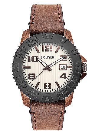 Markante Uhr aus mattem Edelstahl