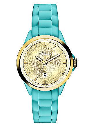 Uhr im Materialmix mit IP Gold