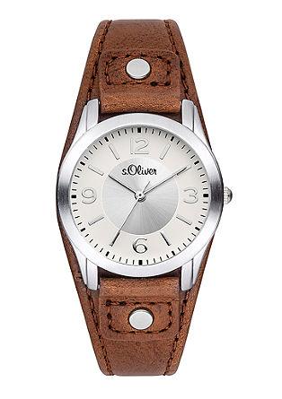 Uhr mit breitem Lederarmband