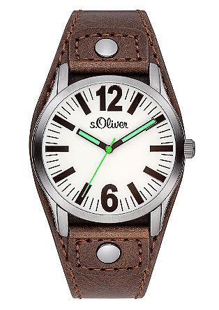 Markante Armbanduhr mit Leuchtzeiger