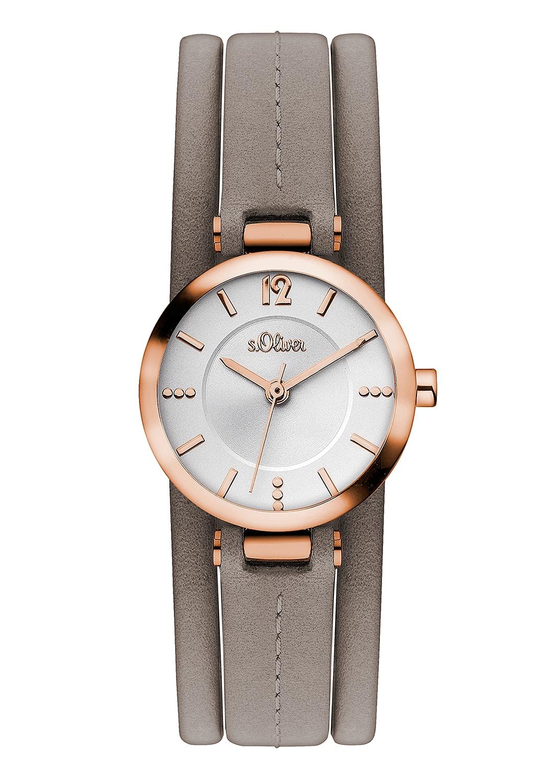 Armbanduhr | Uhren > Sonstige Armbanduhren | Grau/schwarz | Mineralglas -  edelstahl -  leder -  metall | s.Oliver