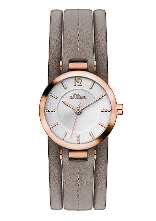 Uhr mit Lederband in IP Rosé